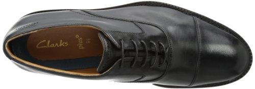 Clarks Dorset Boss - Zapatos con cordones de cuero hombre Negro (Black Leather)