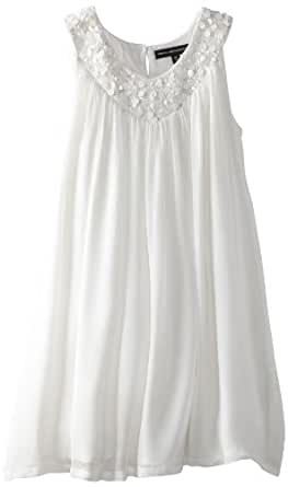 French Connection Big Girls' Vicky Dress, Optic White, 8/10
