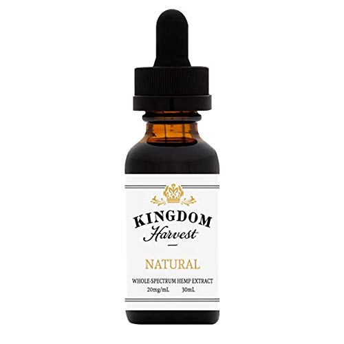 Kingdom Harvest Extra Strength All Natural Hemp Extract Oil 30 mL (Natural Flavor)- Pain and Anxiety Relief. Sleep Support. Inflammation. Reduce Stress