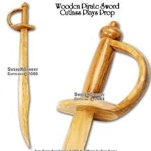"""30 """" Wooden Pirate Practice Sword Cutlass Plays Prop"""