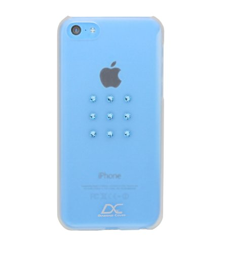 Diamond Cover 305126 Aqua Star Handy Case mit Kristallen von Swarovski  für Apple iPhone 5C blau