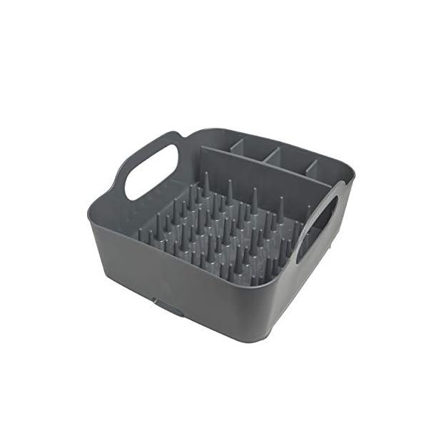 31aUcb92yYL Umbra Tub Geschirr Abtropfgestell – Abtropfkorb mit integriertem Tropfwasserabfluß für Ihre Spüle oder Arbeitsfläche in…