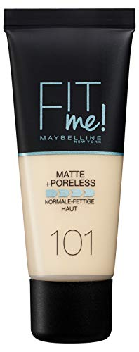 Maybelline Fit Me Matte & Poreless Foundation, 101 True Ivory