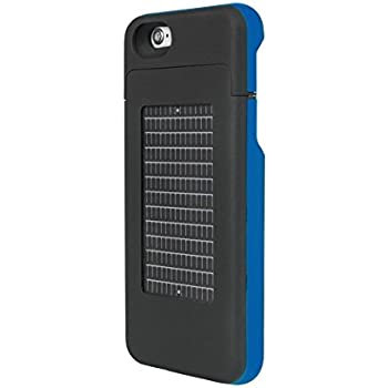 EnerPlex Surfr Ultra Slim Battery Backup & Solar Powered Case for iPhone 6/iPhone 6S, Black/Blue, SRI62700BL