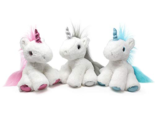 Puffins Unicorn Plush - Stuffed Animal in 3 Colors - 3-Pack