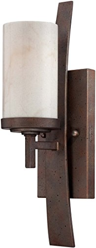 - Quoizel KY8701IB Kyle Rustic Wall Sconce, 1-Light, 100 Watts, Iron Gate (16