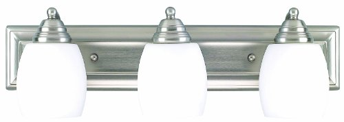 Canarm IVL259A03BPT 3 Light Griffin Bathroom Bar Light (Bathroom Pewter Accessories)