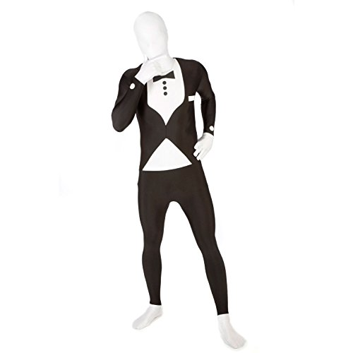 Adults MSUIT Tuxedo Second Skin Halloween Costume -