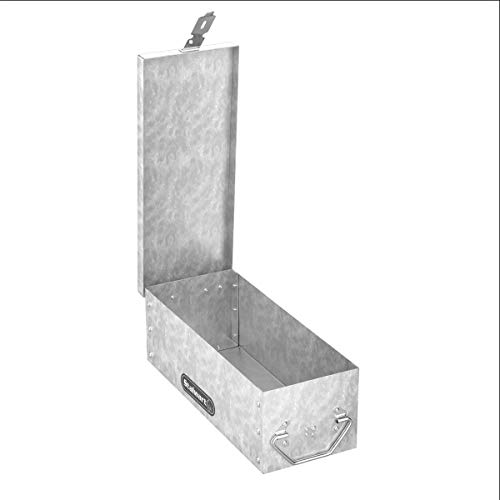 Metal Lock Box with Folding Handle and Stackable Design- Dur