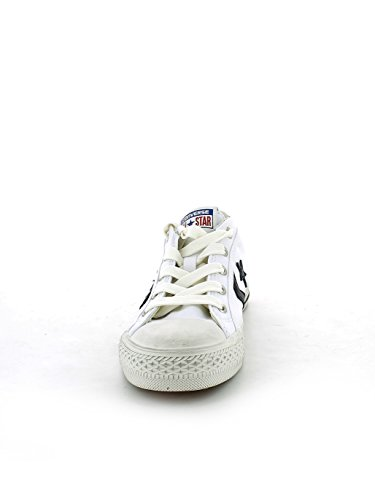 Bianco nero Star 160925c Converse Player Unisex Scarpe Distressed PYWwagq