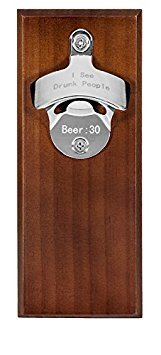 I See Drunk People Magnetic Bottle Opener with Magnetic Cap Catcher. Funny Novelty Bar Product. Refrigerator or Wall Mountable.