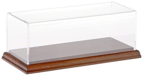 - Plymor Brand Clear Acrylic Display Case with Hardwood Base, 9