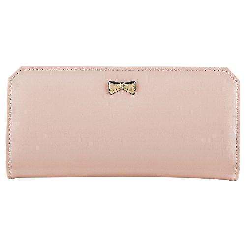 insten-16-cards-leather-bowknot-women-clutch-wallet