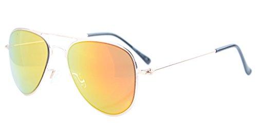 Eyekepper 2-6yr Old Kids Child Pilot Sunglasses Gold Frame-Red -