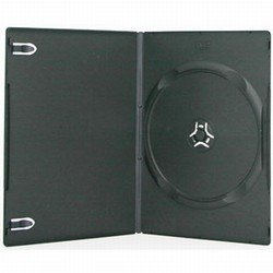 50 SLIM Black Single DVD Cases (50 Black Single Slim Dvd)