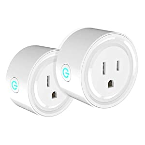 One Hour Smart Home Smart Plug Compatible with Alexa – WiFi Outlet Plug Mini Smart Socket Works with Amazon Echo and Google Home Assistant, No Hub Required 2 Pack