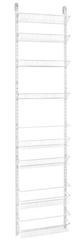 ClosetMaid 1233 Adjustable 8-Tier Wall and Door Rack, 18-Inch 2-Pack by ClosetMaid