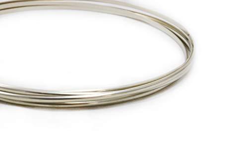 (12 Gauge, Nickel Silver Wire, Half Round, Dead Soft, CDA #752-5FT from Craft Wire)
