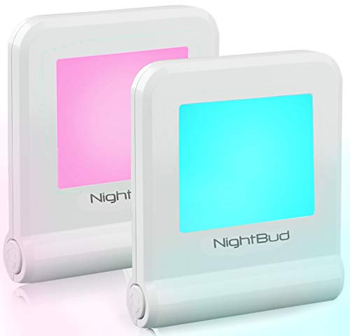 NightLights for Adults Children - Perfect Illumination NightLight Sensor 16 Colors & Carousal Mode - Comforting Night Light Plug in - Eco-Friendly 30 Cents/Year - Best Modern Night Lights (2 Pack)