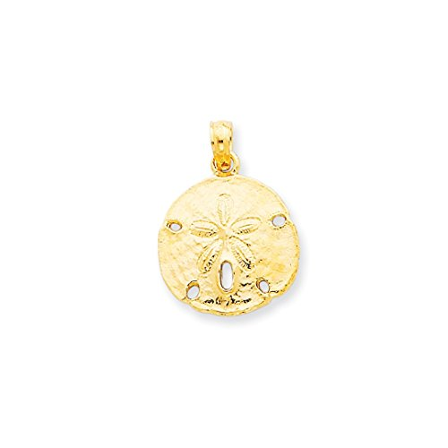 ICE CARATS 14kt Yellow Gold Sand Dollar Sea Star Starfish Pendant Charm Necklace Shore Shell Fine Jewelry Ideal Gifts For Women Gift Set From Heart