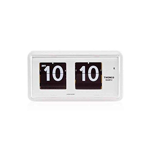 TWEMCO トゥエンコ インテリアクロック パタパタ時計 qt-30 WHITE B01M9E0Z2B