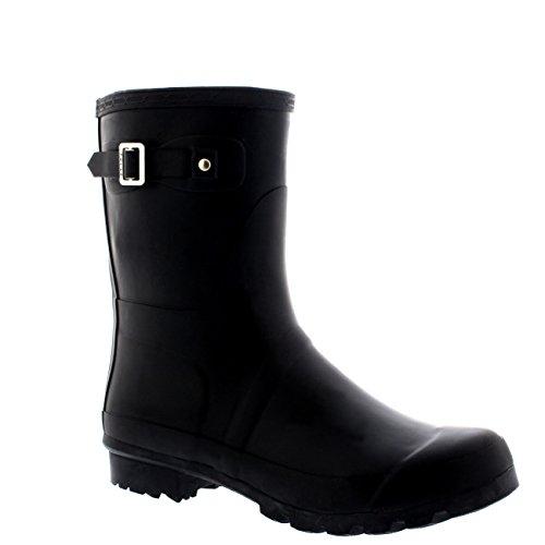 Mens Original Short Plain Rubber Fishing Ankle High Wellington Boots - 10 - BLA43 BL0184