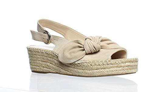 Franco Sarto Women's Pirouette Espadrille Wedge Sandal Light Bone 8.5 M US (Footwear Light Bone)