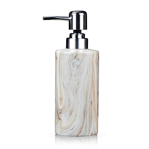 Fimary Lotion Soap Ceramic Dispenser Pump - Refill Bath Hand Soap Dispenser Bathroom, Lotion Shower Dispenser with Unique Texture, Cute Soap Dispenser
