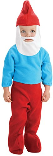 Smurfs Costume For Toddlers (Toddler size Papa Smurf Costume - Blue Smurf - Toddler)