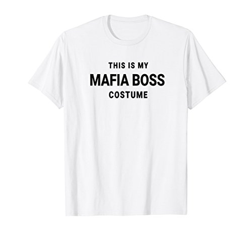 This Is My Mafia Boss Costume Decades Party Halloween Shirt -