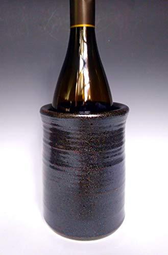 Wine Chiller ~ Purple Heather Pottery ~ Handmade Ceramic Stoneware Pottery ~ Dark Amber Glitter ~ Sparkle Finish ~ Wine Cooler ~ Utensil Holder ~ Wine Decor