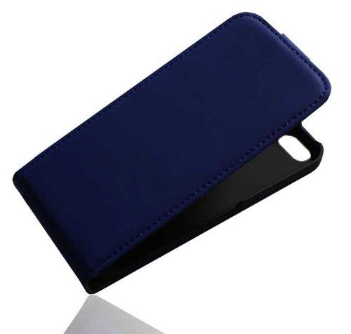 Premium Handy Case Tasche Flip für Apple iPhone 5C / Handytasche Schutzhülle Schutztasche Blau