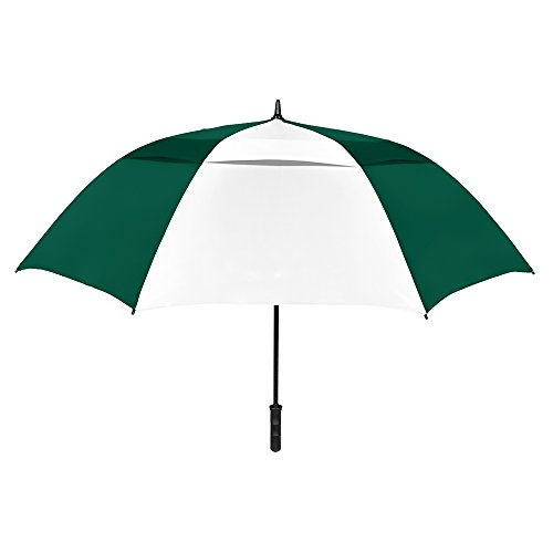 Umbrella Nylon Windproof (StrombergBrand Stromberg Brand The Vented Tornado Golf Umbrella Hunter Green/White)