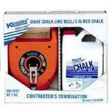 - KESON INDUSTRIES G1303R Chalk Line Reel, 130 Ft L, 3 Lb Capacity
