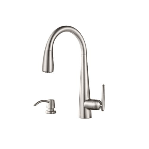 pfister-gt529-sms-lita-single-handle-pull-down-kitchen-faucet-with-soap-dispenser-stainless-steel