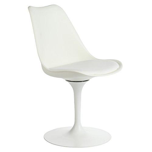 Amazon.com: Eero Saarinen style silla Tulip, color blanco ...