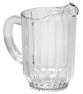 Royal Industries 6 Water Pitchers Set, Plastic, 32 oz, Clear ()