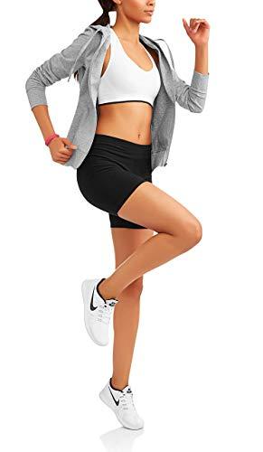 Danskin Now Womens Bike Shorts (Large, Black)