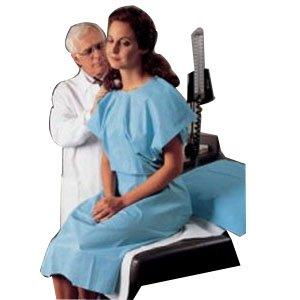 Patient Gown, Blue , 100/Case