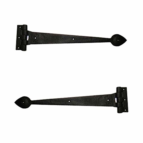 Heart Strap Hinge - Strap Hinge Black Wrought Iron Heart Strap Hinge