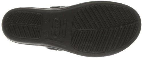 Crocs Sanrah Círculo de la cuña del tirón Black/Graphite
