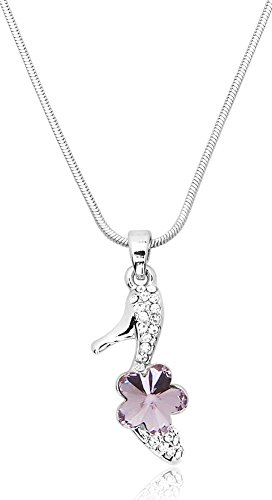 High Heel Stiletto Shoe Charm Pendant Necklace with Swarovski Elements Crystal for Teen Girls, Women, Ladies - Swarovski Charm Necklace Crystal