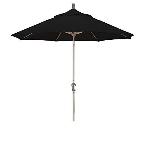9' Aluminum Market Umbrella Auto Tilt Champagne/Pacifica/Black