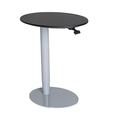 C&AHOME Pub Style Table Adjustable Oval Bar Table Folding Liquor Cabinets