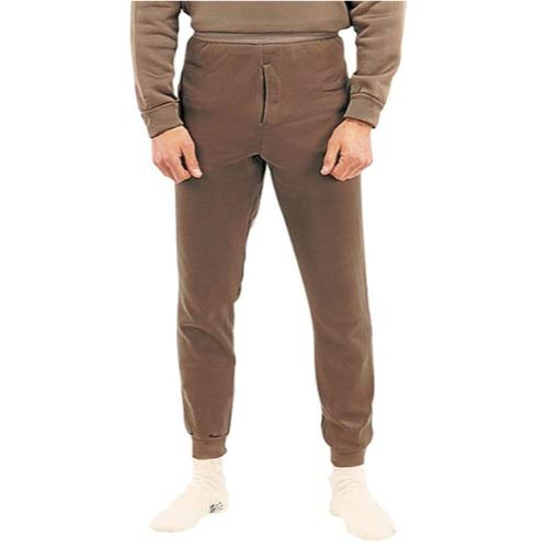 Genuine Issue Thermal Bottom, Polypro, Brown, Size Medium by Genuine Issue