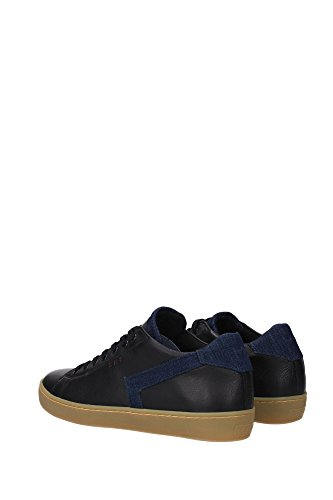 Noir Sneakers mlc09nerodenim Eu Crown Leather Homme Xw5vv4