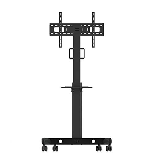 (Mobile TV Display Floor Stand for 32-60 Inch Height Adjustable Lockable Caster for Flat Panel LED LCD Plasma Screen Bedroom Living Room Conference Office)