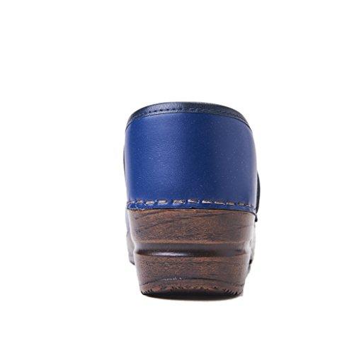 Sanita Gomma 457006 con Izabella Colore Nuova Fondo in Primavera Blu Zoccolo Pelle Estate Collezione 2018 5 rHrxBwFq