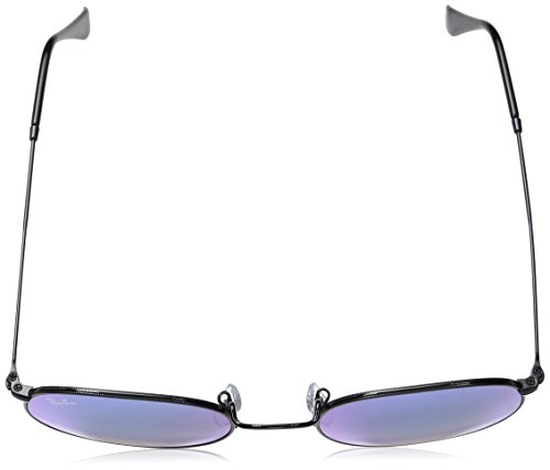 Ray 4O para Shiny de Round 53 Gafas Ban Black Hombre Metal Sol 002 rxInr6COwU
