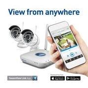Swann SWNVK-460KH2-US 4-Channel, 2-Camera Indoor/Outdoor Wireless High-Definition DVR Surveillance System White